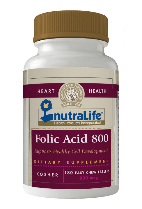 Nutralife Folic Acid 800mcg