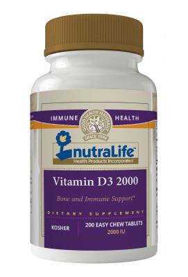 Nutralife Vitamin D3 2000iu